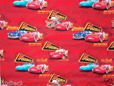 DISNEY CARS FABRIC cotton BABY fabric 1ST TO THE FINISH LINE RED CP25266 BTY NEW