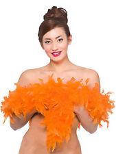 1.7M Orange Marabou Feather Boa Fancy Dress Hen Night Party Burlesque Halloween