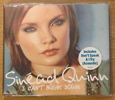 SINEAD QUINN I Can't Break Down CD Single (Fame Academy)