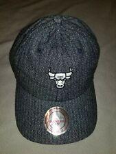 size 40 55262 45c6a NBA Chicago Bulls Mitchell   Ness Strapback Reverse Slouch Hat Mens Blue  Denim