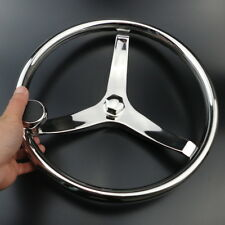 "Brilliant Marine Boat Steering Wheel 3 Spoke 13-1/2"" Dia. For SeaStar and Verado"