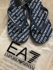 EMPORIO ARMANI EA7 BLUE SEA WORLD ALL OVER FLIP FLOPS SANDALS  UK 5 6.5 7.5 10.5