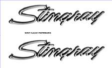 "1974-1976 Corvette Front Fender Emblem, ""Stingray"" GM Reproduction New USA Pair"