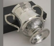 Irish made Pewter Celtic Claddagh Wedding Loving Cup Mullingar Pewter