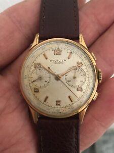 Vintage Invicta Chronograph 17 Jewels Cal 149 Watch Orologio Montre Uhren