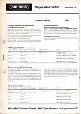Service Manual for Grundig Luxus Boy 210