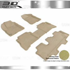 Fit 2011-2013 Kia Sorento All Weather Floor Mat Set Kagu Tan