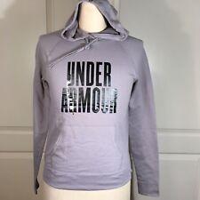 Under Armour Womens Size Medium Hoodie Sweatshirt Pull Over Pretty Gritty Gray
