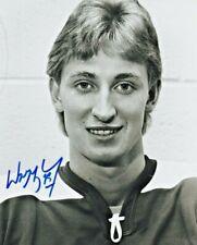 WAYNE GRETZKY AUTOGRAPHED 8x10 B&W PHOTO RACERS WHA SIGNED COA OILERS NHL HOF