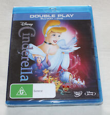 Disney Cinderella (Blu-ray + DVD, 2012, 2-Disc Set) New Sealed