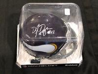 D.J. Dozier Signed Autographed Minnesota Vikings NFL Mini Helmet With #42 INSC