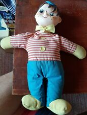 Vintage Knickerbocker Pinocchio Puppet children's doll 1960's era