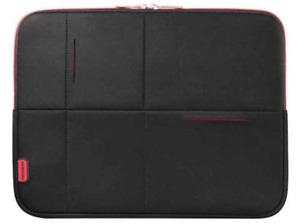 """Funda de Neopreno para portátil de hasta 15.6"""" Samsonite Airglow. Negro y rojo."""
