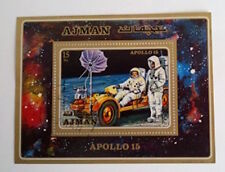 AJMAN Apollo 15 stamp with postmark