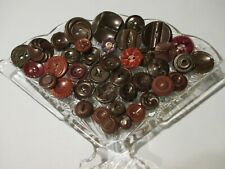 40 Brown Vintage Sewing Buttons #2