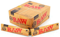 10x RAW CLASSIC King Size Slim Genuine 110mm Natural Unrefined Rolling Papers
