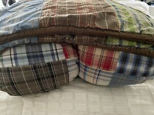 POTTERY BARN MADRAS Full/Queen QUILT Set With Two Matching Standard Shams