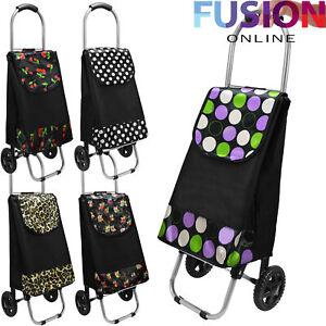 Shopping Trolley Foldable Capacity Light Weight Wheeled Push Cart Bag Wheelie