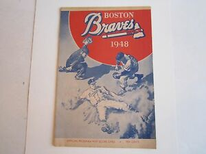 1948 BOSTON BRAVES VS CHICAGO OFFICIAL PROGRAM & SCORE CARD - OFC-2
