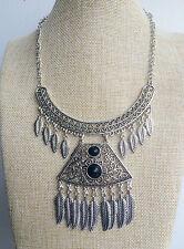 Argento Tibetano Vintage Stile Bohemien Gypsy MESSICANA Collana con nodo Stile Indiano