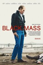 BLACK MASS MOVIE POSTER 2 Sided ORIGINAL 27x40 JOHNNY DEPP DAKOTA JOHNSON
