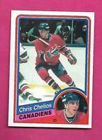 1984-85 OPC # 259 CANADIENS CHRIS CHELIOS  ROOKIE EX-MT CARD (INV# D1076)