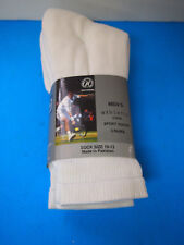 NEW PACKAGE OF3 MENS NATIONAL WHITE ATHLETIC SPORTS CREW SOCKS SZ.10-13