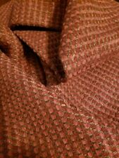 Chenille Merlot Red Pink Gold Remnant Upholstery Fabric
