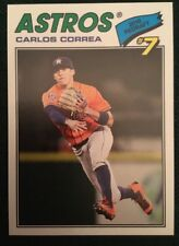 2018 Topps Throwback Thursday Carlos Correa #103 Houston Astros 1977 Design