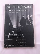 Goethe/Faust An American Translation of Part 1 by C.F. MacIntyre Paperback Book