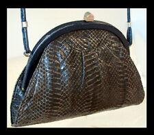 ART DECO Handtasche ECHT SCHLANGEN - LEDER Ledertasche ABENDTASCHE 20er-Jahre #