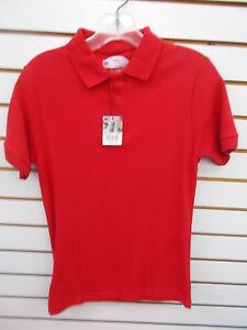 Boys Preferred School Uniform Red Polo Shirt Size 7 - 18/20