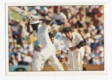 Scanlens Cricket Stickers 1985 No 37 Steve Rixon, Malcolm Marshall Bob Holland