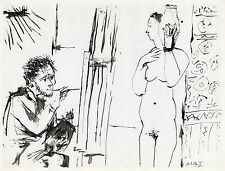 """Marvelous Pablo PICASSO 1954 Human Comedie Print """"Nude with a Vase"""" Framed COA"""