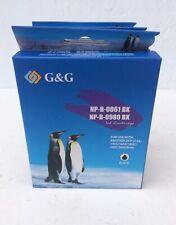 NEW (3) G&G NP-B-0061 BK Black Ink Cartridges Brother DCP-J125/145C/165C Etc.