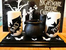 More details for halloween/gothic bats salt/pepper/sauce pots/cruet set