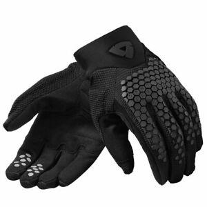 Revit MX Massif Motorcycle Motorbike Off Road Short Textile Gloves Black