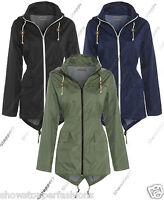 NEW RAIN MAC Ladies PARKA Womens FISHTAIL RAINCOAT Size 8 10 12 14 16 18 22 24