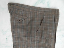 BCBG Max Azria Plaid Pleated Front Cropped Pants - size 10