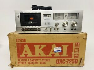 AKAI Stereo Cassette TAPE Deck GXC-725D In Box Three Head Japan Tested Working