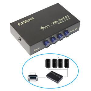 E06C USB 2.0 Switch 4 IN 1 OUT Umschalter Drucker Scanner USB Stick Kartenleser