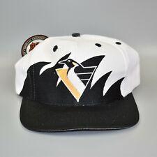 Pittsburgh Penguins Sharktooth NHL Vintage 90's Logo 7 Snapback Cap Hat