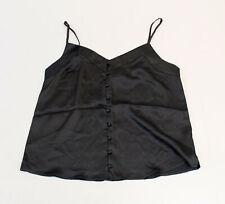 Abercrombie & Fitch Women's Button-Through Sleeveless Cami MW7 Black Small NWT
