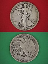 MAKE OFFER $20.00 Face Value 90% Silver Walking Liberty Half Dollars Junk Coins