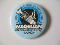 NASA 1990 Magellan America Returns to Venus Mission Satellite Launch Pin Pinback