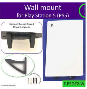 PlayStation 5 PS5 wall bracket wall mount stand Made in the UK by us. Carbon