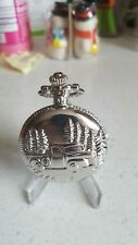 Necklace Chain with Gift box Antique ford Truck Silver Pocket Watch