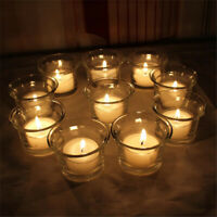 Beautiful Clear Glass Light Votive Candle Holders Wedding Table Party Gift E9D9