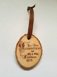 Personalized Our First Christmas as Mr & Mrs Wedding Chrismas Ornament