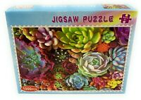 1000 Pieces Succulent Spectrum Plants Jigsaw Puzzles Educational Assembling Toys